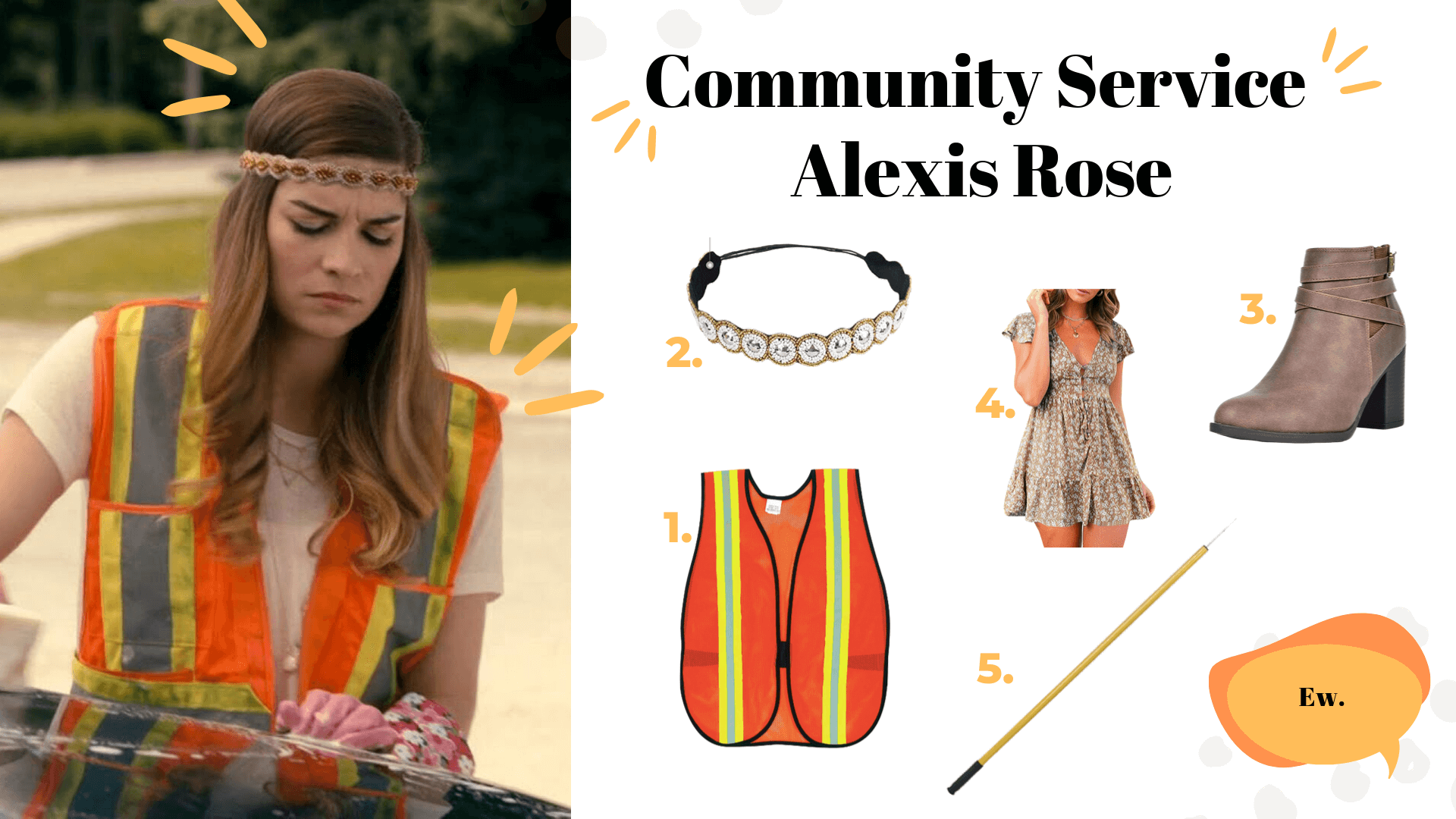 schitt's creek halloween costumes community service alexis rose