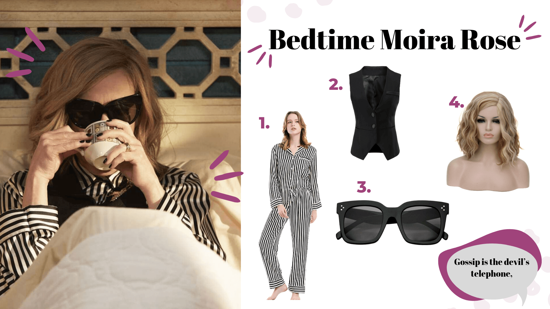schitt's creek halloween costume moira rose bedtime
