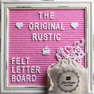 Pink felt letter board. One of the most unique gifts for teen girls.