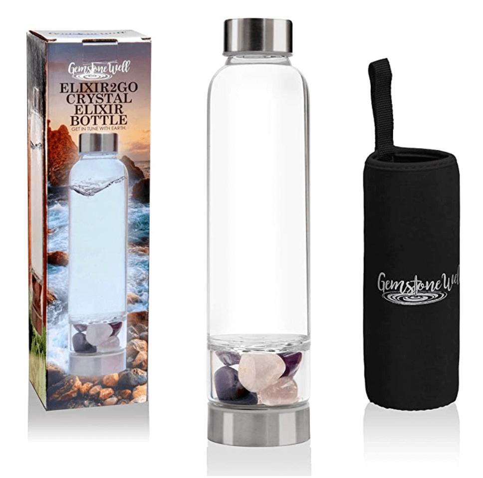 elixer2go crystal water bottle