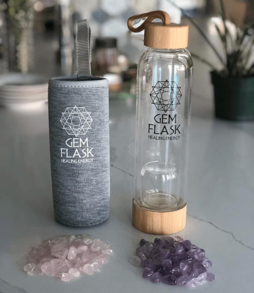 gem flask crystal water bottle