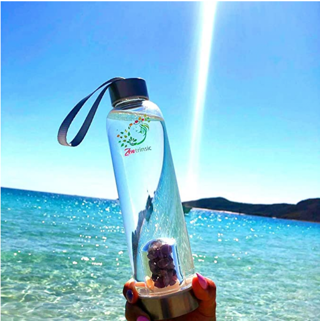 zentristic crystal water bottle