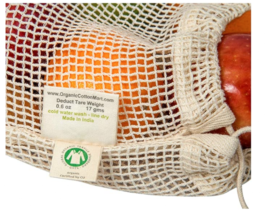 vegan mesh grocery bag