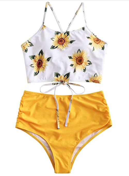 sunflower bathing suit