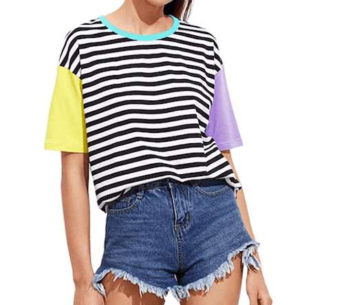 90s Striped Neon Shirt