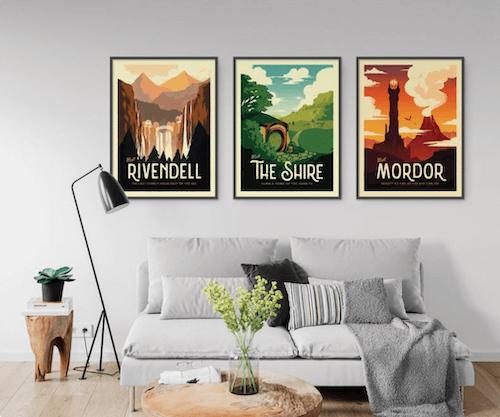 Vintage LOTR posters