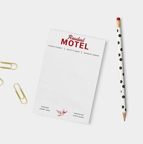 Rosebud Motel Notepad - Schitt's Creek Merch