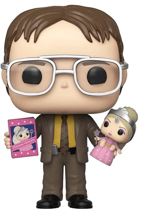 Dwight with Princess Unicorn doll - The Office Funko! Pop